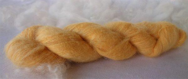 Laine mohair et soie – teinture au coréopsis 1042