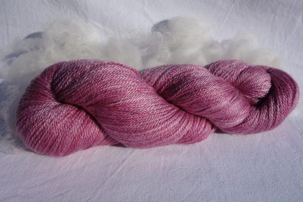 451 Laine mérinos tencel teinture cochenille tricot