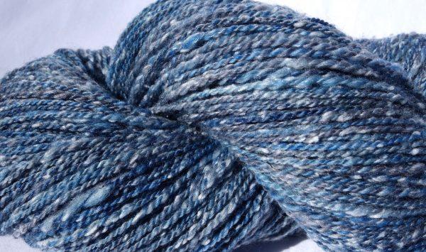 Laine mérinos et tweed-teinture écologique