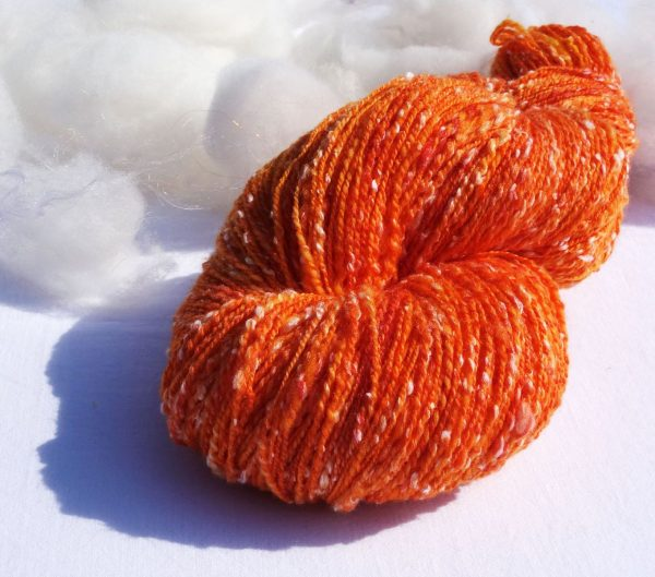 Laine mérinos, tweed (viscose) Teinture éco-responsable. 1300