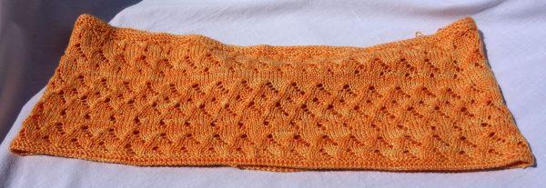 Col mérinos et soie, tricoté et filé main, création artisanale. 727