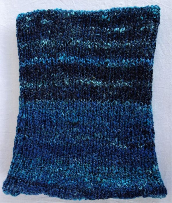 Col laine filée teinture indigo bleu 786