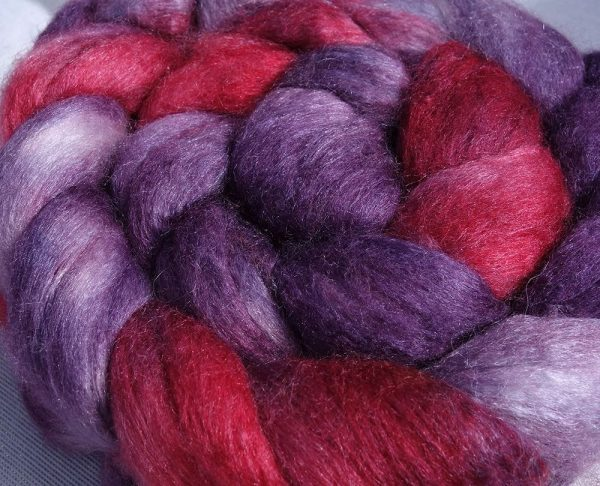 Fibres pour le filage. Mérinos, soie. Teinture écologique 1557