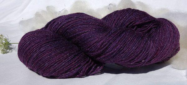 Laine mérinos soie stellina - cochenille indigo - 1729-1733
